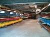 Ohne die Skiffwagen sieht die Halle wirklich sehr aufgräumt aus.