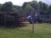 Juni 2012 - Anlieferung der Stahlelemente für die Dämme.
