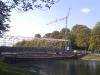 September 2012 - Das Gerüst wird aufgebaut.