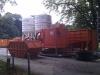 September 2012 - Geräte zur Sanierung der Stahlteile.