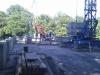 August 2012 - Abbrucharbeiten des Betons.