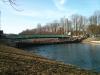März 2013 - Das Gerüst um die Brücke ist weg, auch die Kräne werden entfernt.