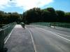27. Mai 2013 - Die Brücke ist wieder für Autos und Fußgänger/Radfahrer freigegeben.