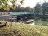 September 2013 - Die unteren Betonelemente der Brücke werden nach längerer Sommerpause saniert