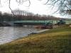 Mitte Dezember 2013 - Wir nähern uns schon dem, aufgrund der Dauer der Baustelle schon fast nicht mehr, vertrautem Bild der Brücke.